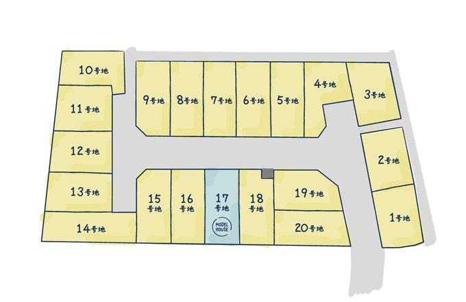 西宮市樋ノ口町 区画図