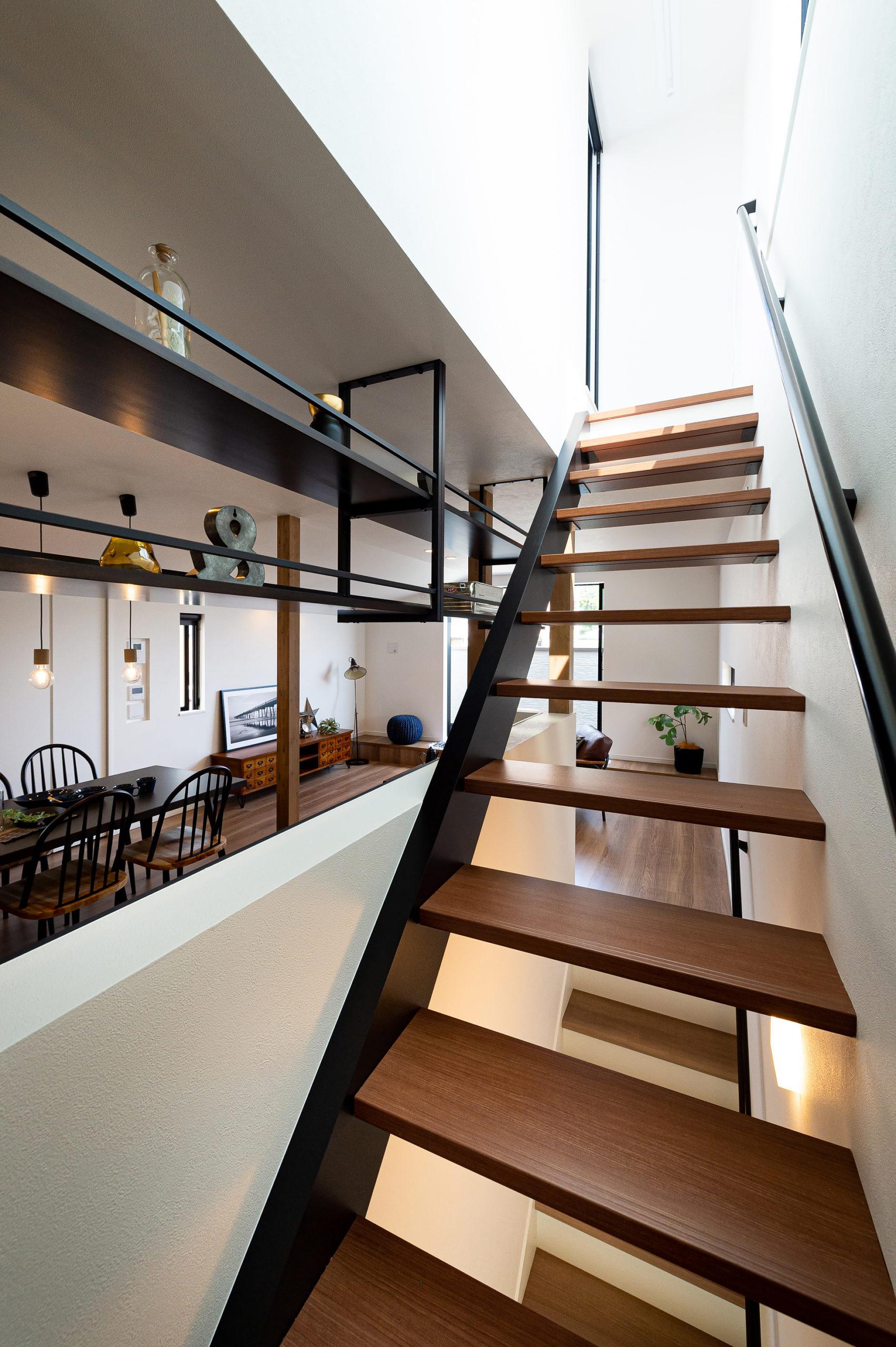 樋ノ口町モデルハウス17号地階段