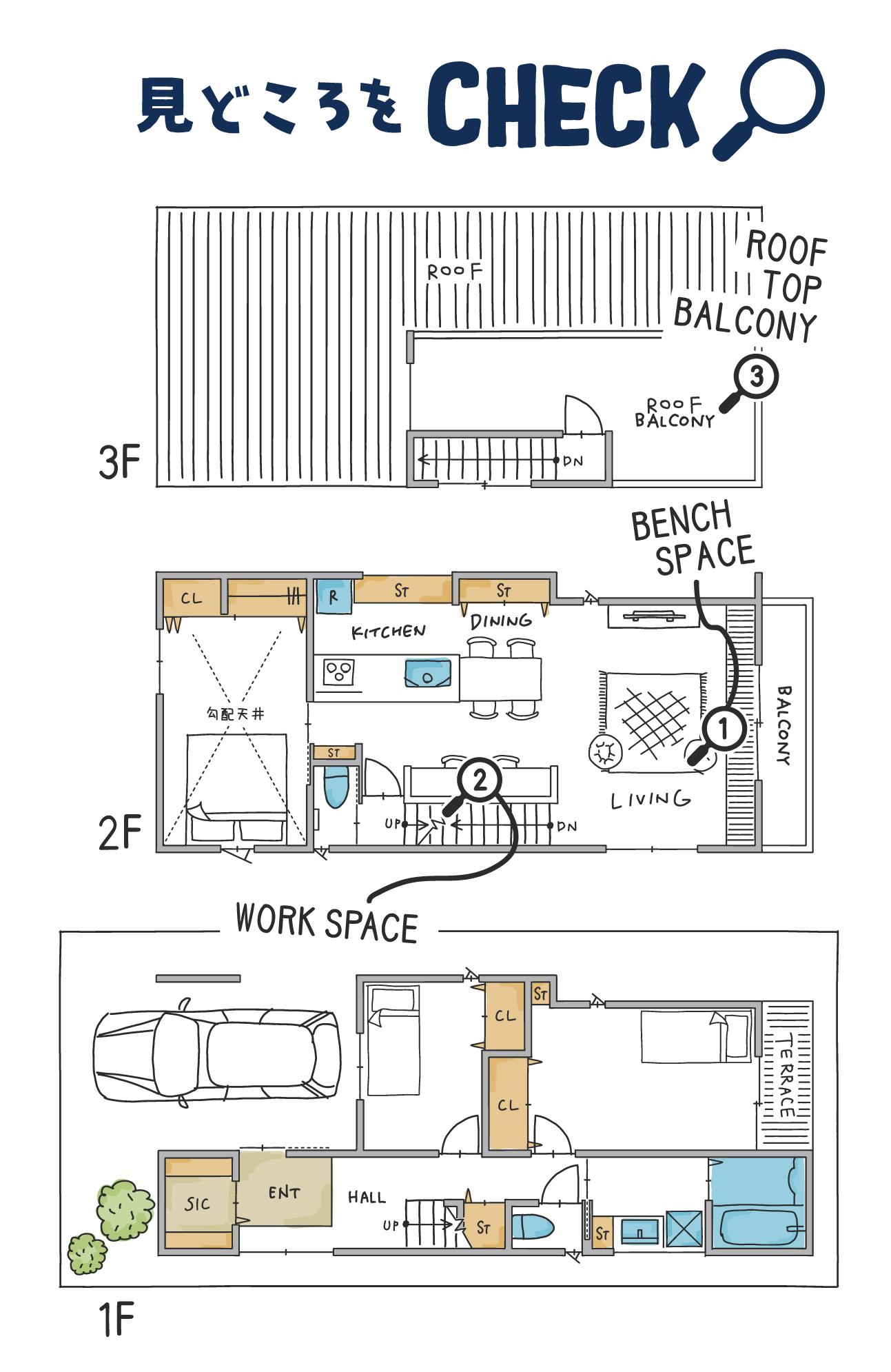 樋ノ口町モデルハウス17号地間取り図